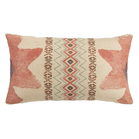 "PL1816 - Burlap Southwestern Oblong Pillow - 11""x 19 by HiEnd Accents"