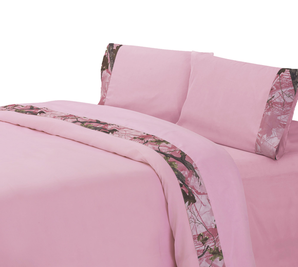 SL1002- Pink Camo Sheets - Western Bedding by HiEnd Accents