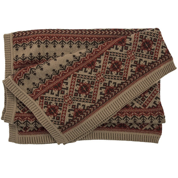 "TR5002-OS-FI - Fair Isle Throw - 50""x60"" by HiEnd Accents"