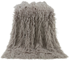 TR5003-OS-GY - Mongolian Faux Fur Throw (Grey) - by HiEnd Accents
