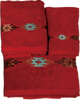 TW3510 - Set of 3 Navajo Design Embroidered Towels