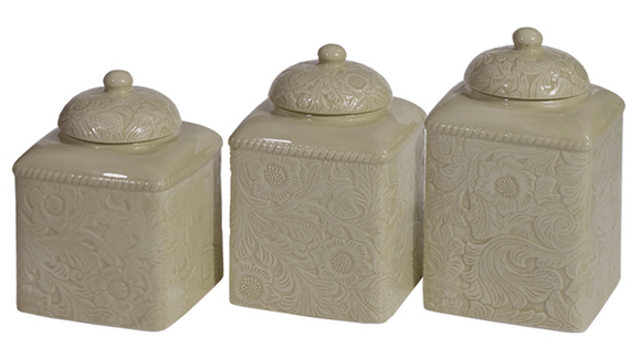 DI4001CS-OS-TP - 3 Piece Canister Set-Savannah Taupe