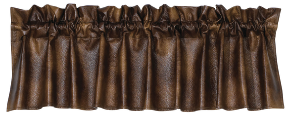 VL1005 - Faux Leather Valance - Western Bedding by HiEnd Accents