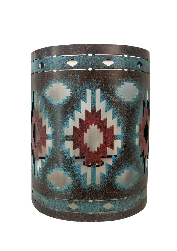 Rustic Wall Decor - Southwestern Aztec Sconce by HiEnd Accents