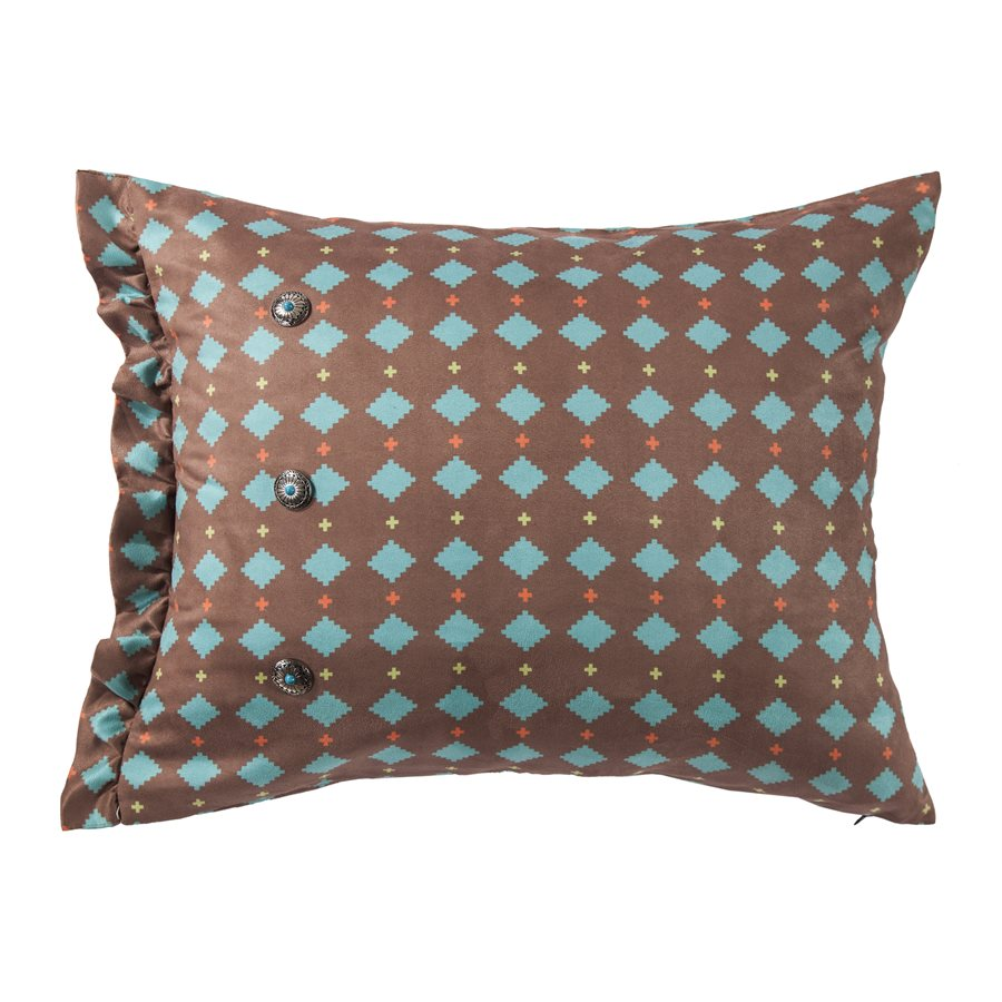 "WS1753P5 - Serape Diamond Print Oblong Pillow- 16""x26 by HiEnd Accents"