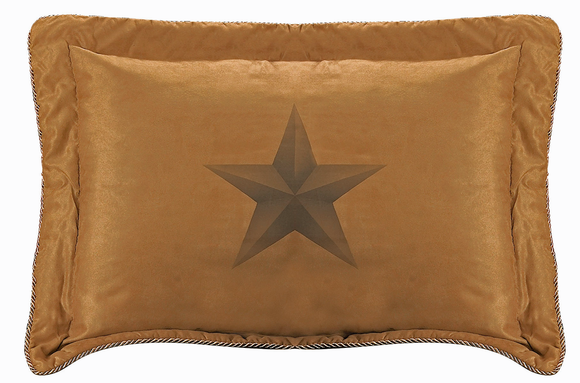 WS2010PS-QN-OC - Luxury Star Pillow - Western Bedding by HiEnd Accents