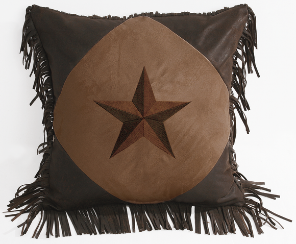 WS2018P5 - Embroidered Star Pillow - Western Bedding by HiEnd Accents