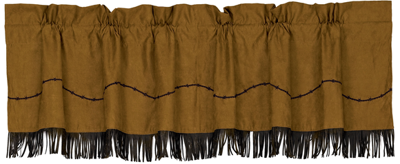 WS3182V3 - Barbwire Valance - Western Bedding by HiEnd Accents