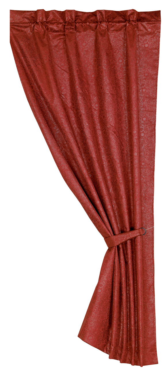 WS4001C - Embossed Faux Leather Curtain - Western Bedding by HiEnd Accents