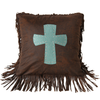 WS4001P2 - Suede Cross Pillow - Western Bedding by Hiend Accents