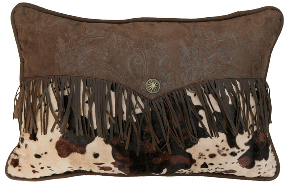 WS4002P3 - Cowhide Envelope Pillow - Western Bedding by HiEnd Accents