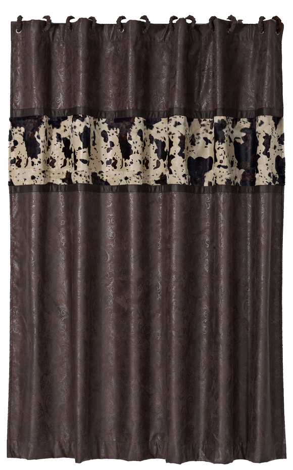 WS4002SC - Suede Shower Curtain - Western Bedding by HiEnd Accents