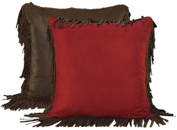 WS4005ES - Red Rodeo Euro Sham - Western Bedding by HiEnd Accents
