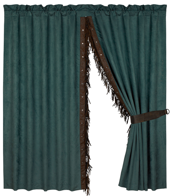 WS4006C - Suede Curtain (PAIR) - Western Bedding by HiEnd Accents