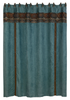 WS4006SC - Suede Shower Curtain - Western Bedding by HiEnd Accents