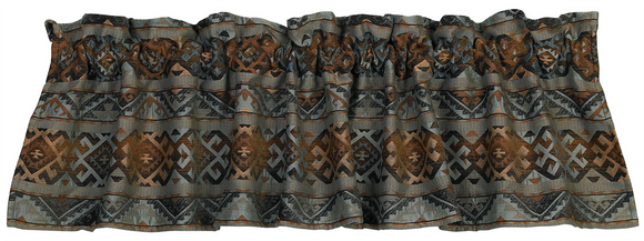WS4006VL - Geometric Valance - Western Bedding by HiEnd Accents