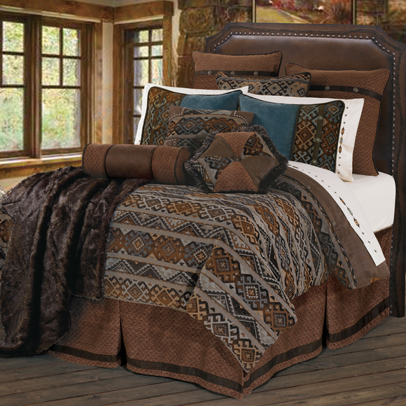 WS4007 - Rio Grande Bedding Set - Western Bedding by HiEnd Accents