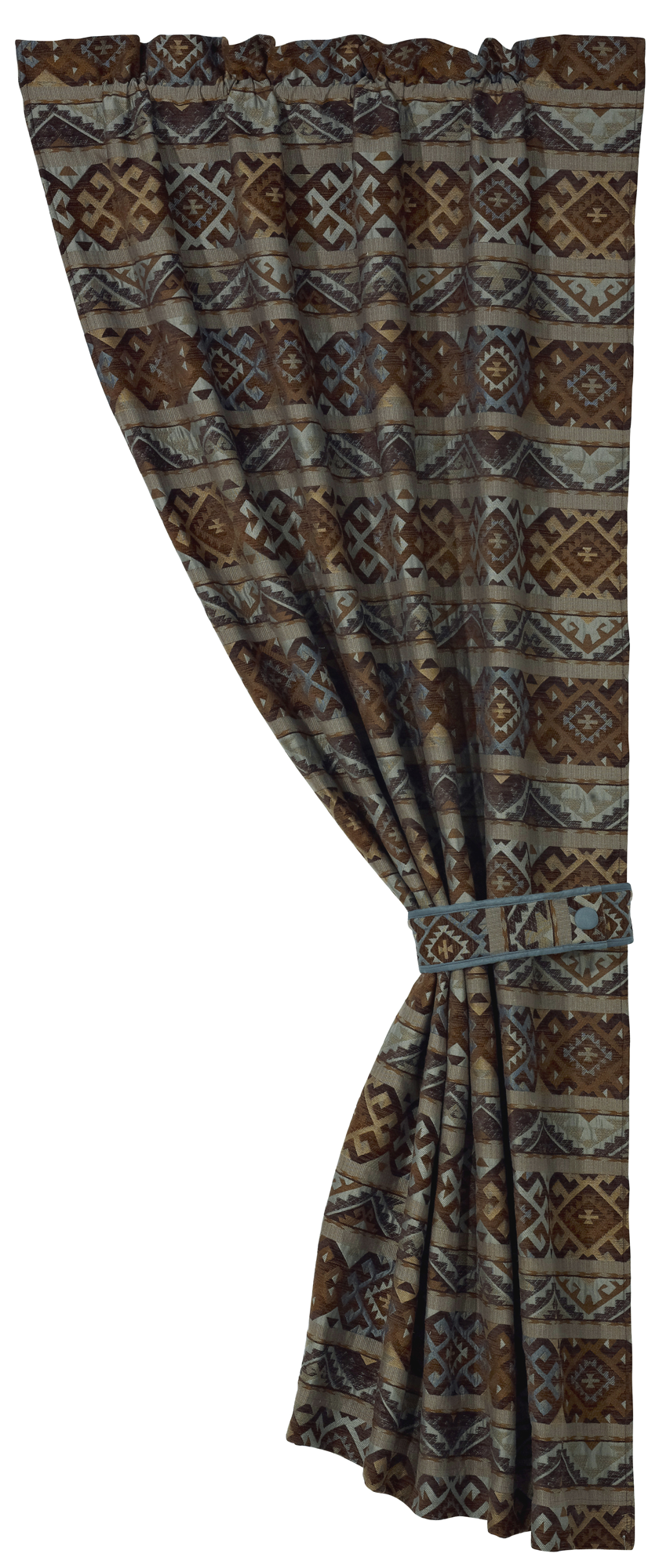 WS4007C - Geometric Curtain - Western Bedding by HiEnd Accents
