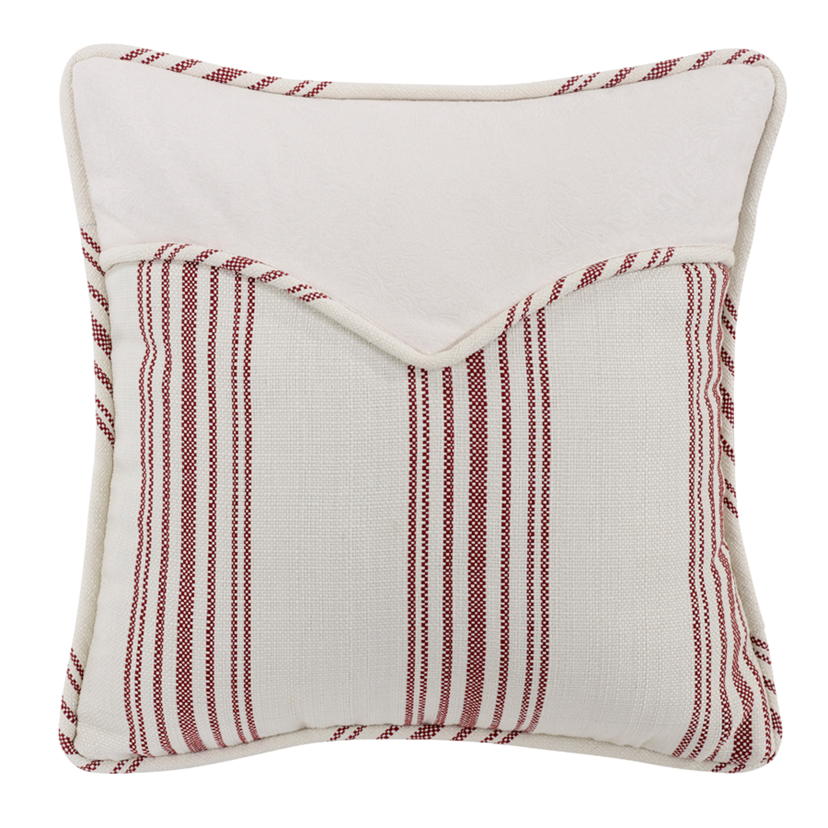 WS4011P2 Bandera Red Stripe Envelope Pillow