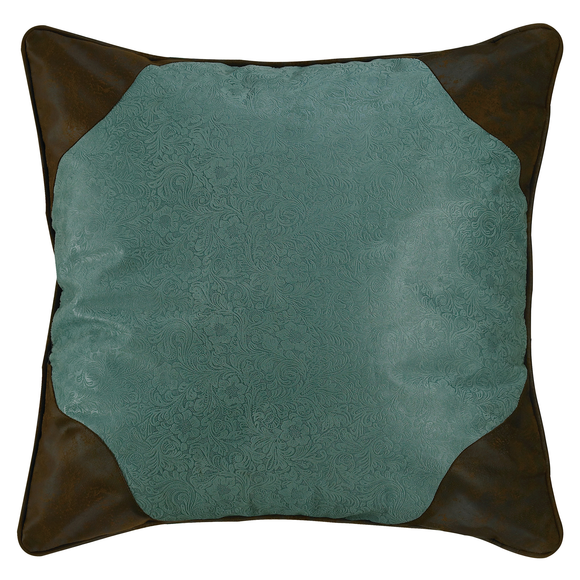 WS4060E2 - Turquoise Euro Sham - Western Bedding by HiEnd Accents
