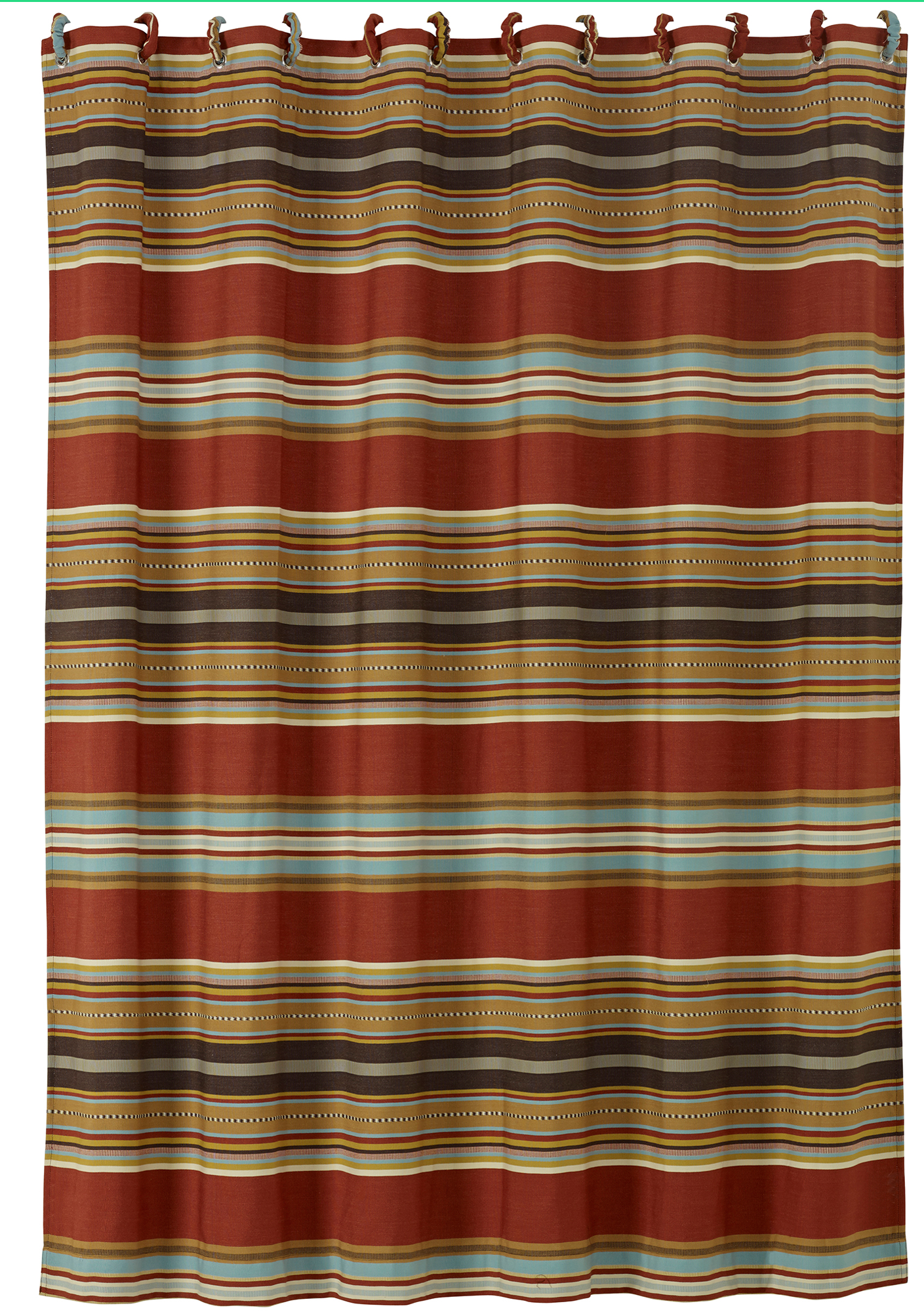 Ws4060sc Striped Shower Curtain Western Bedding By Hiend Accents