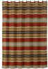 WS4060SC - Striped Shower Curtain - Western Bedding by HiEnd Accents