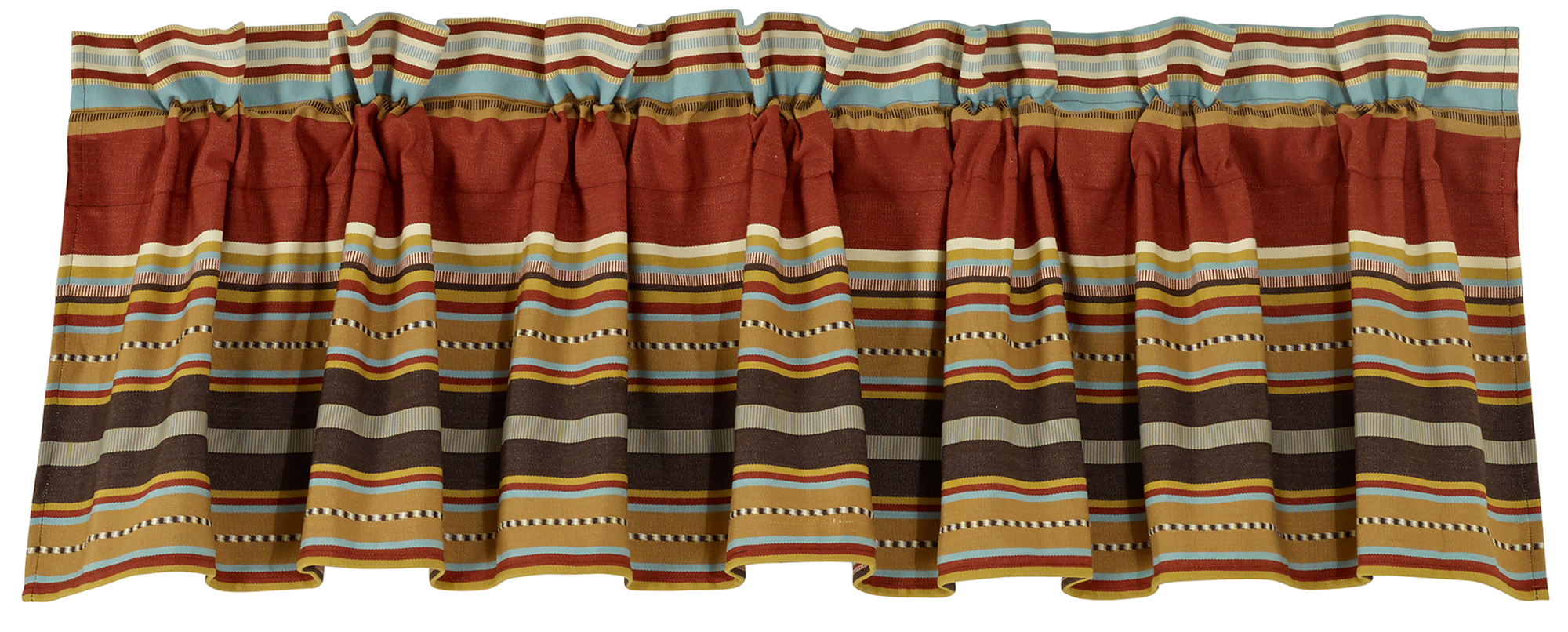 WS4060VL - Striped Valance - Western Bedding by HiEnd Accents