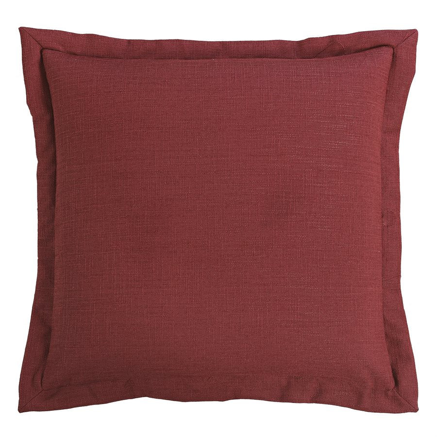 "WS4066E2 - Red Linen Euro Sham - 27""x27""  by HiEnd Accents"