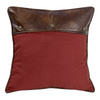 WS4066ES Faux Leather Red Euro Sham