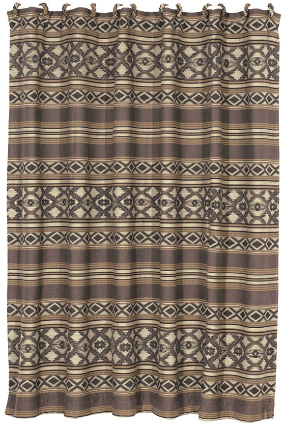 WS4078SC - Navajo Shower Curtain - Western Bedding by HiEnd Accents