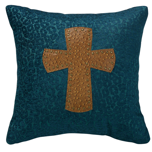 WS4082P5 - Alamosa Cross Pillow Western Bedding by HiEnd Accents