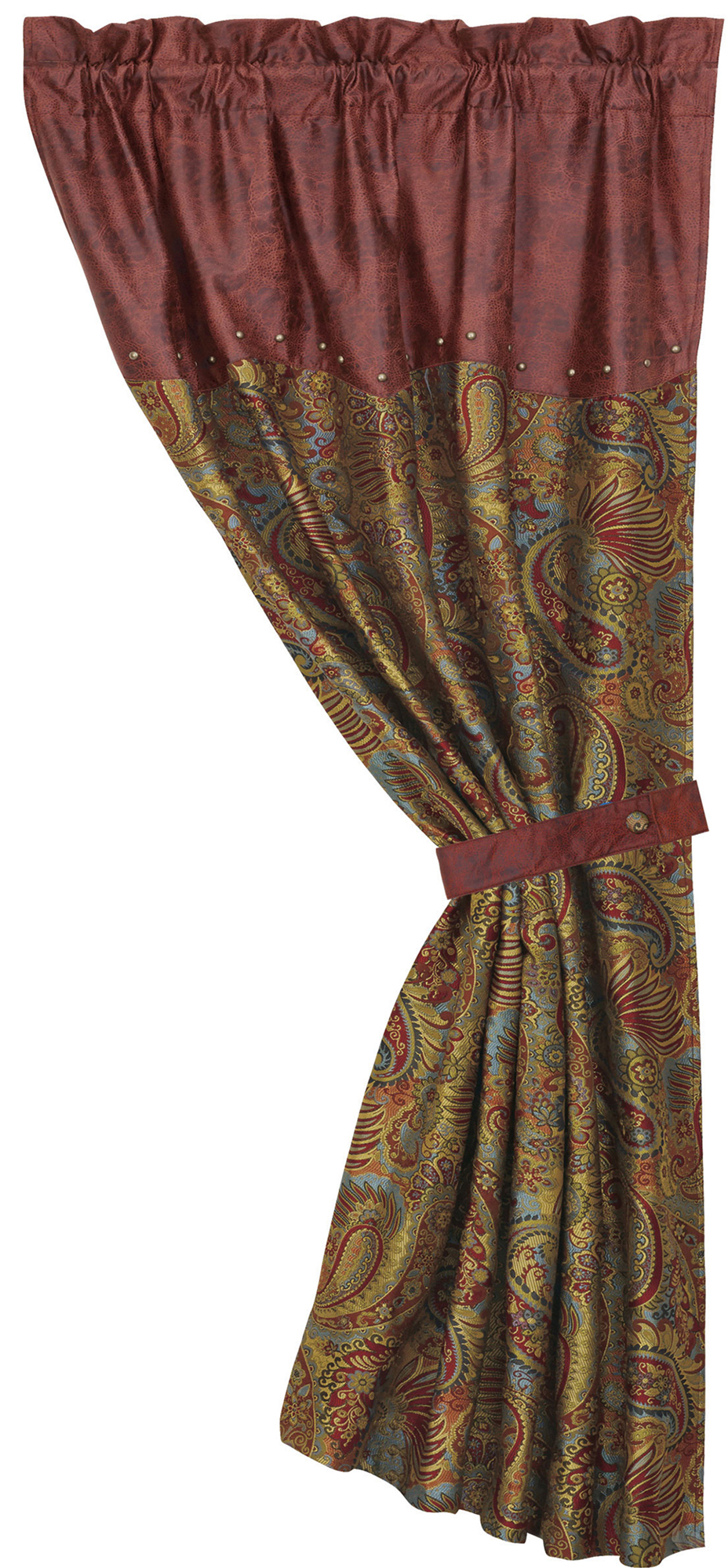 WS4287C - Paisley Curtain - Western Bedding by HiEnd Accents