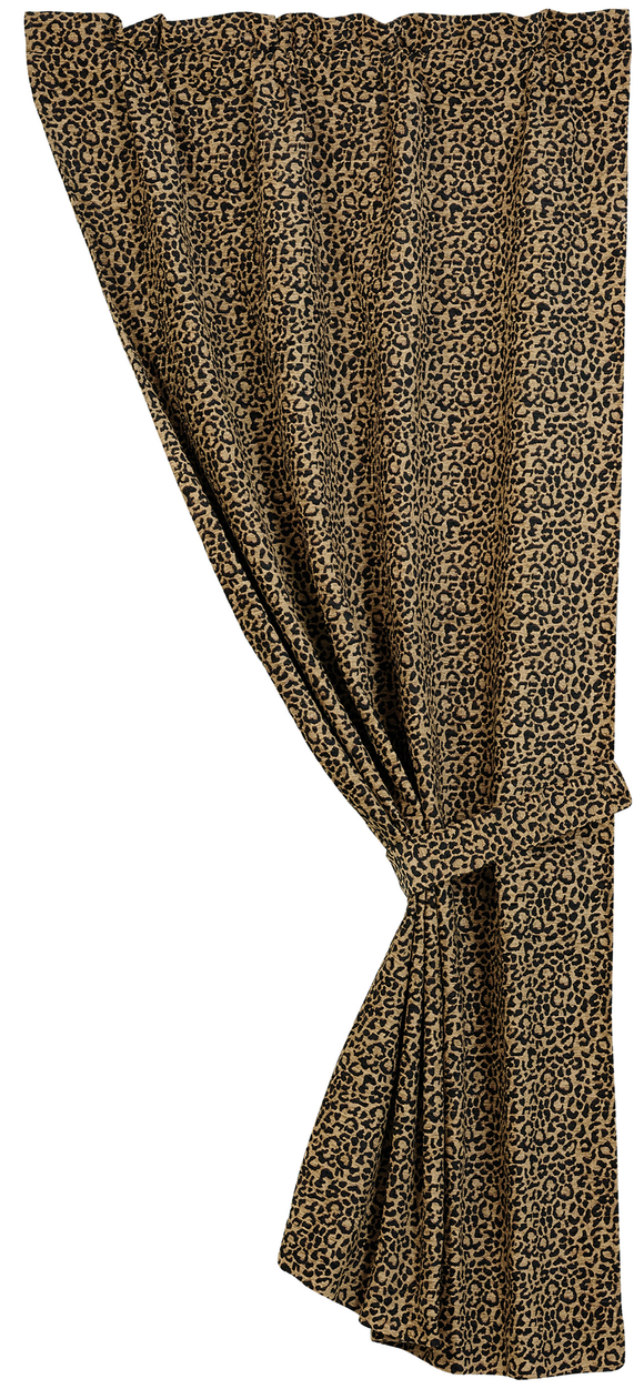 WS4287C2 - Leopard Curtain - Western Bedding by HiEnd Accents