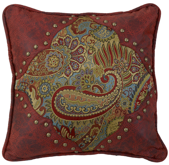 WS4287P1 - Paisley Pillow - Western Bedding by HiEnd Accents