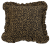 WS4287P2 - Ruffled Leopard Pillow - Western Bedding by HiEnd Accents