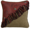 WS4287P3 - Chenille/Faux Leather Pillow - Western Bedding by HiEnd Accents