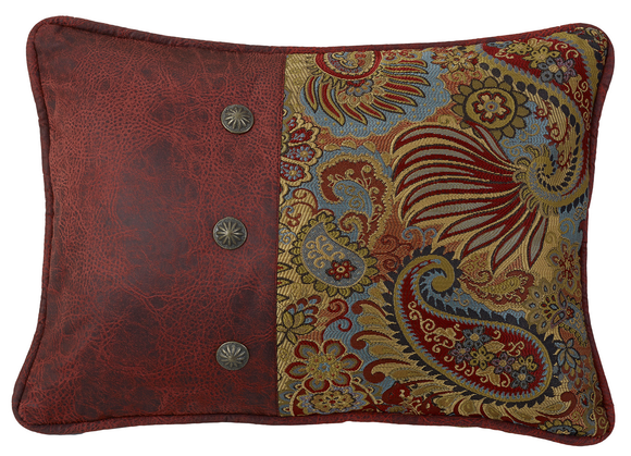 WS4287P4 - Paisley Oblong Pillow - Western Bedding by HiEnd Accents