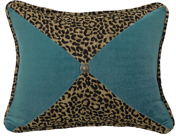 WS4287P8 - Leopard/Velvet Oblong Pillow - Western Bedding by HiEnd Accents