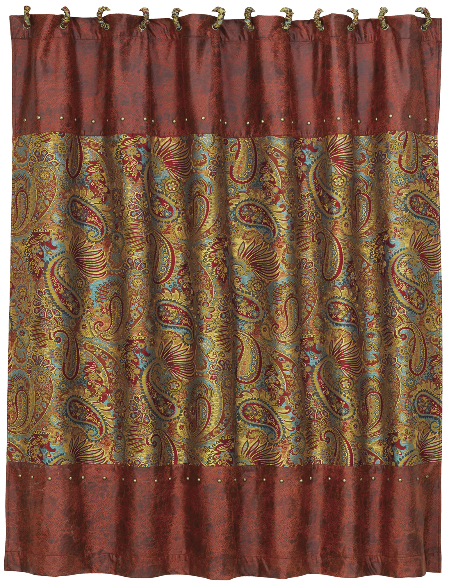 WS4287SC - Paisley Shower Curtain - Western Bedding by HiEnd Accents