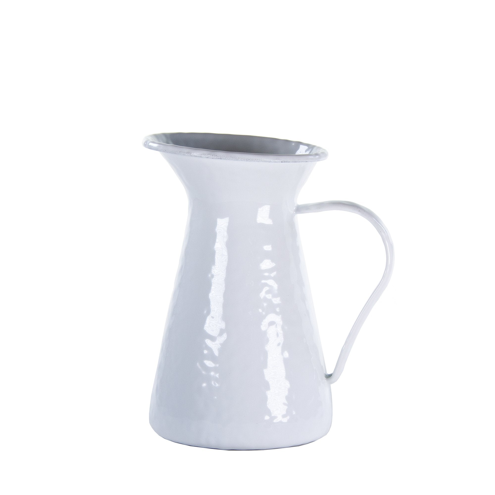 WW33 - Solid White - Enamelware- Small Pitcher by Golden Rabbit