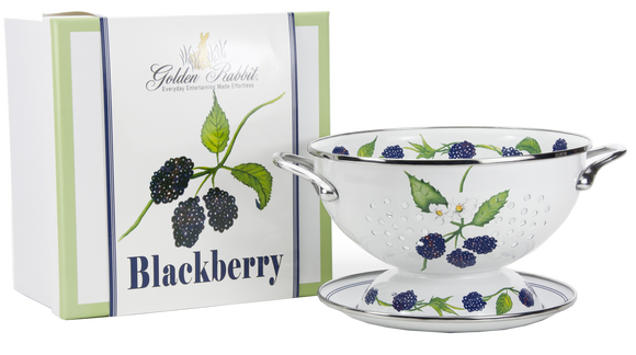 BB107 - Blackberry Pattern - 1 Quart Colander with 8