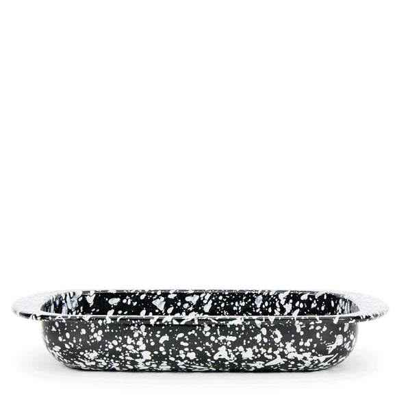 BL78 - Black Swirl Pattern - Baking Pan