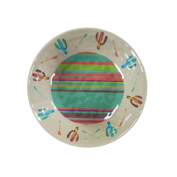 Cactus Southwestern 4-PC Melamine Dinner Bowl Set