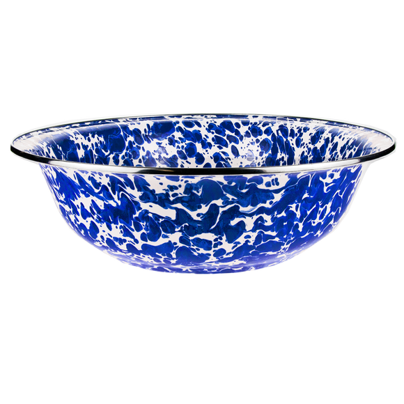 CB03 Cobalt Blue Swirl Serving Basin