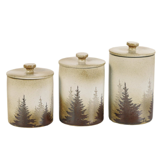DI1763CS01 - 3 Piece Canister Set- Clearwater Pines