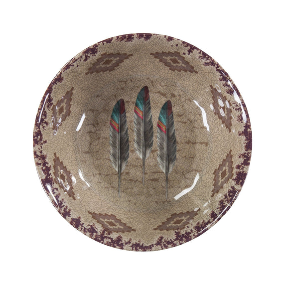 Feather Southwestern 4-PC Melamine Dinner Bowl Set