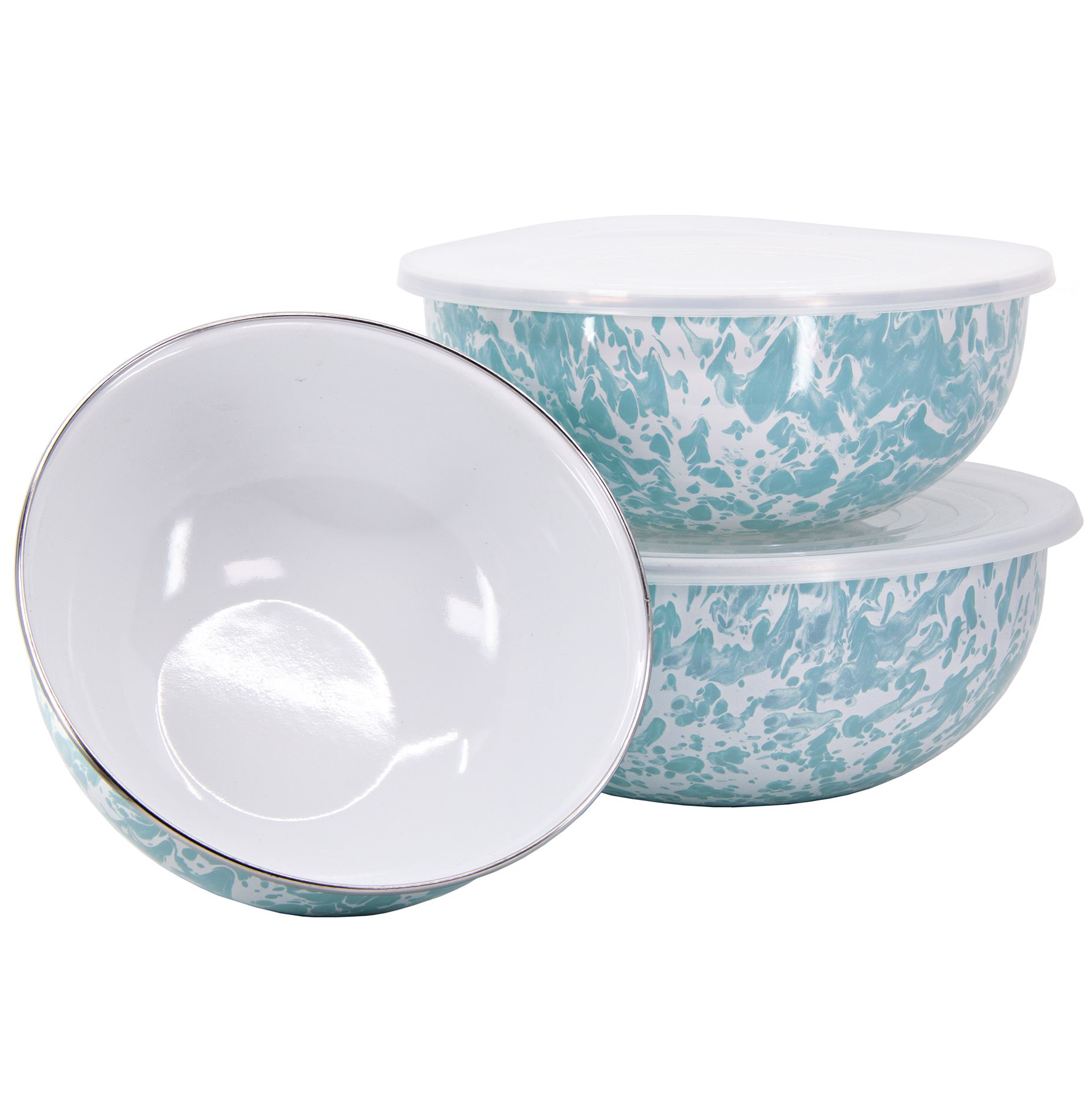 GL54 Sea Glass Swirl Pattern - Mixing Bowls by Golden Rabbit