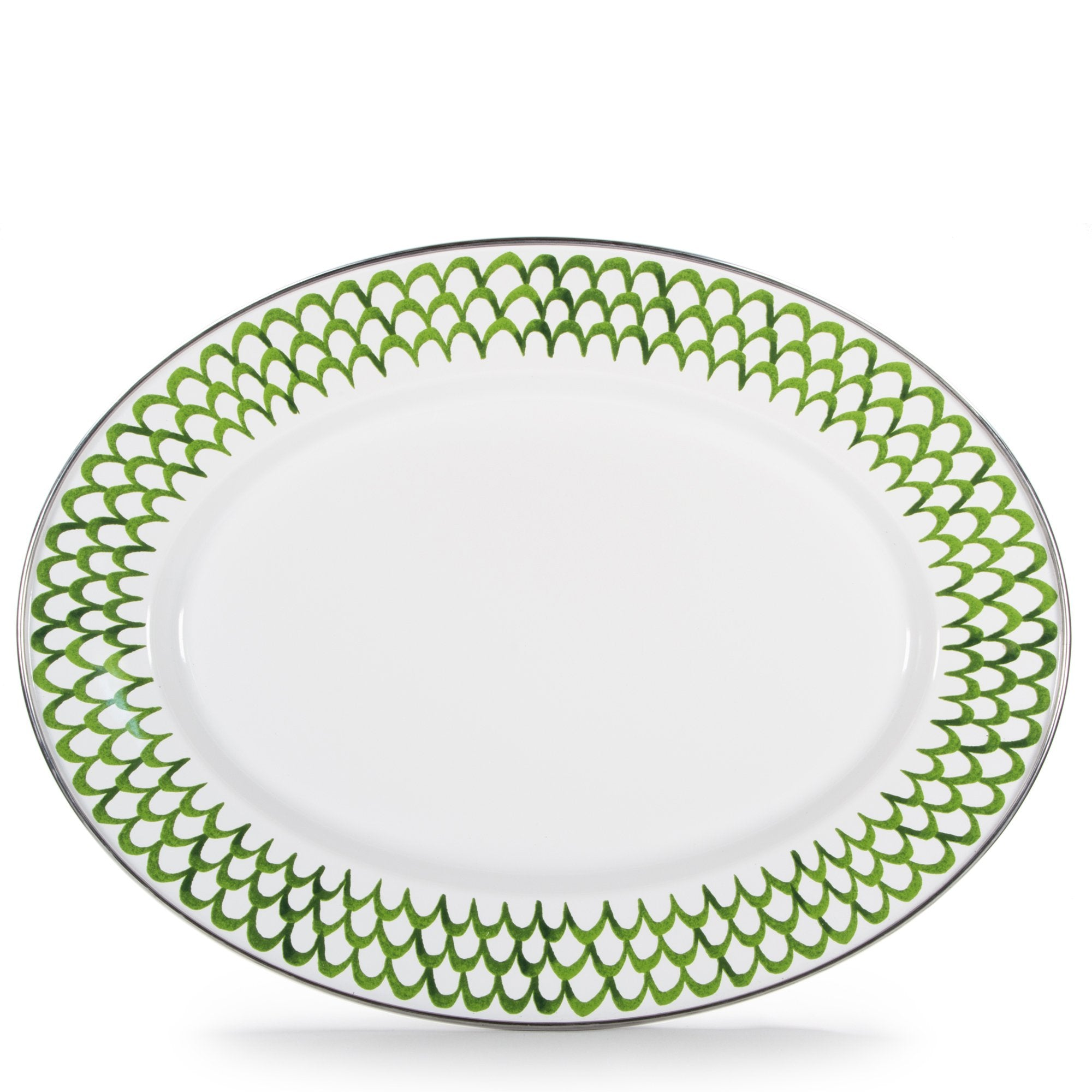 GS06 - Green Scallop Oval Platter Product 1