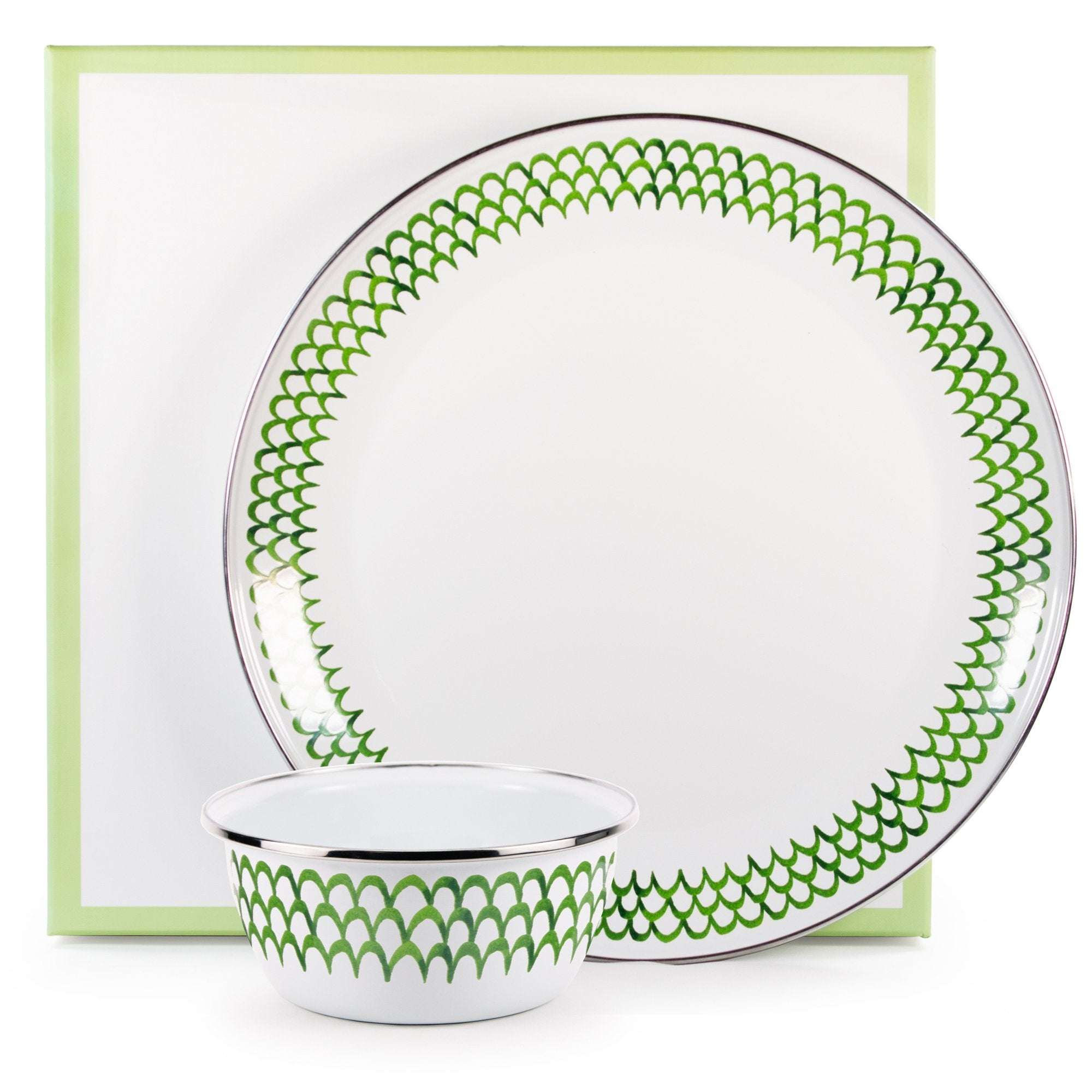 GS65 - Green Scallop Dip Set Product 1