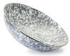 GY18 - Enamelware - Grey Swirl 5 Quart Catering Bowl by Golden Rabbit